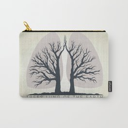 Trees - the lungs of the planet. Icon of ecology in nature Carry-All Pouch