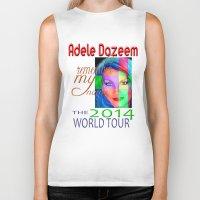 concert Biker Tanks featuring Adele Dazeem Concert Tee by Danadu