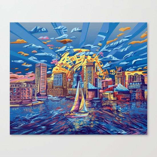 abstract city skyline-baltimore Canvas Print