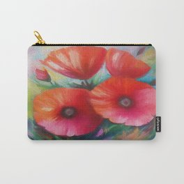 Red Poppies by OLena Art - brand for #society6 Carry-All Pouch
