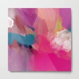 PINK abstract landscape Metal Print