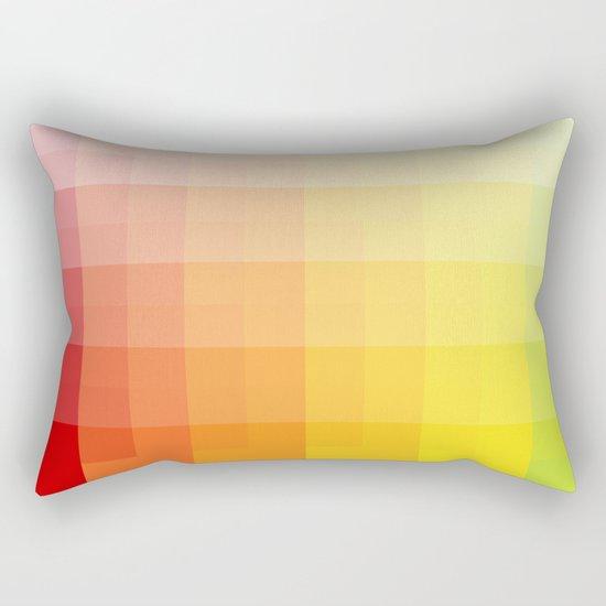 citrus pixelate Rectangular Pillow