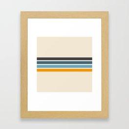 Vintage Retro Stripes Framed Art Print