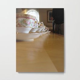Tea Line Metal Print