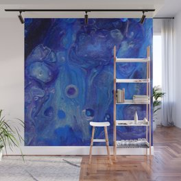 Blue Waves Lava Lamp Flow Wall Mural