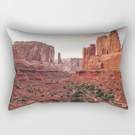 Fire Red Rock Formations in Utah Rectangular Pillow