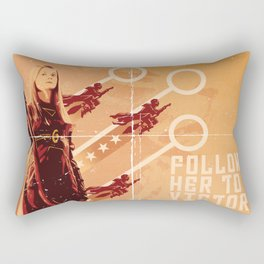 Follow Her to Victory Rectangular Pillow