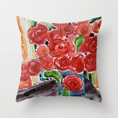 I love red Throw Pillow