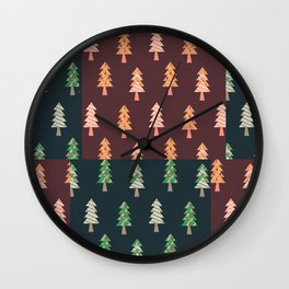 Xmas Tree Asymmetric Pattern Wall Clock