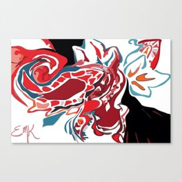 Paisley on Fire Canvas Print