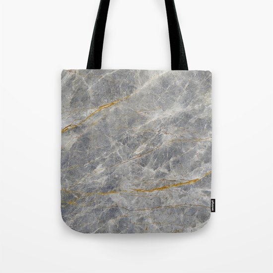 Grey Marble Tote Bag
