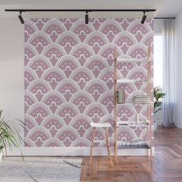 Fan Pattern 431 Dusty Rose Wall Mural