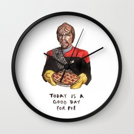 Worf - Today Is A Good Day for Pie Wall Clock