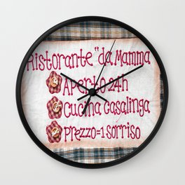 Mamma's Restaurant Wall Clock