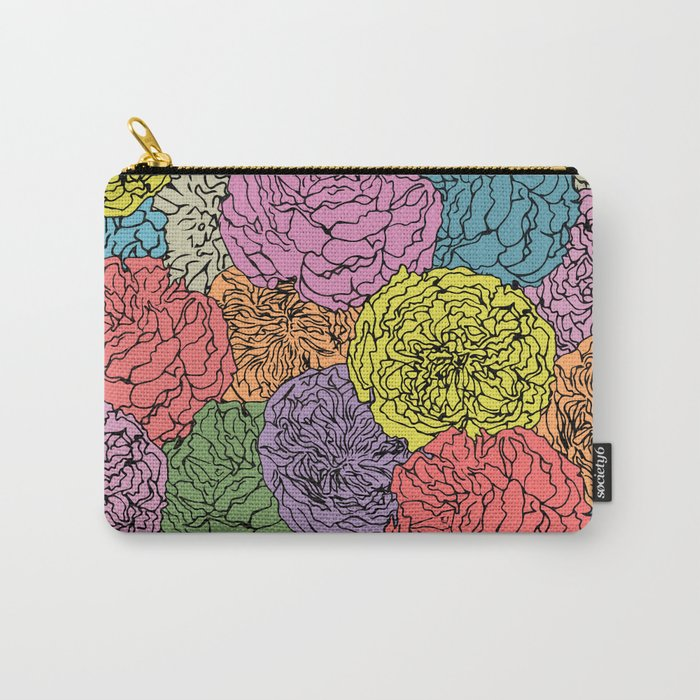 LONG LIVE THE SPRING! (abstract tropical flowers) Carry-All Pouch