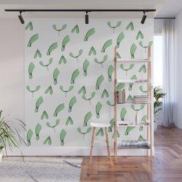 Green Maple Keys Wall Mural