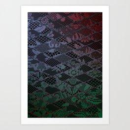dark lace Art Print