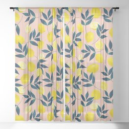 Lemony Goodness Sheer Curtain