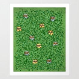 Little Leafy Friends Art Print