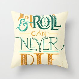 Rock & Roll Can Never Die - Neil Young Throw Pillow