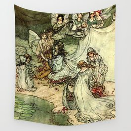 """""""Titania"""" by Arthur Rackham From Shakespeare Wall Tapestry"""