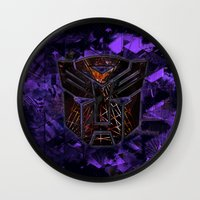 transformers Wall Clocks featuring Autobots Abstractness - Transformers by DesignLawrence