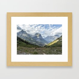 Catching a View from Going to the Sun Road Framed Art Print