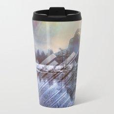 Winter Sun Rays Abstract Nature Metal Travel Mug