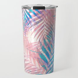 Palm Leaves - Iridescent Pastel Travel Mug