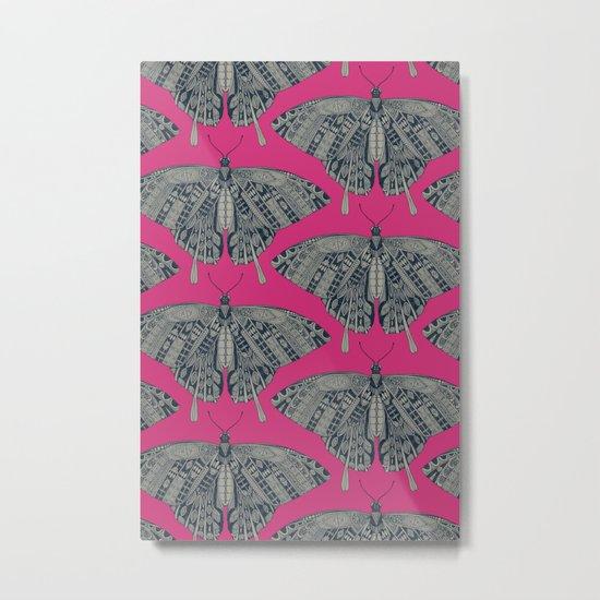 swallowtail butterfly pink indigo Metal Print