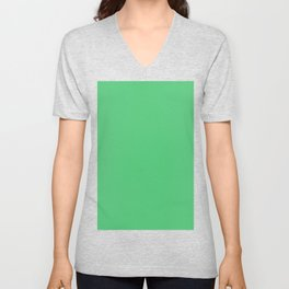 Emerald Green Unisex V-Neck