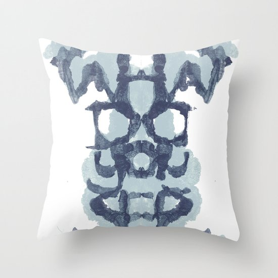 Typography Psychology Throw Pillow