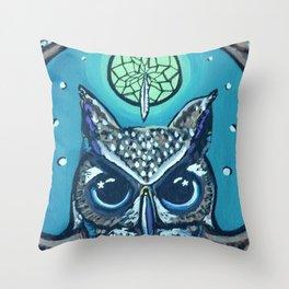 The Owl's Alter Throw Pillow