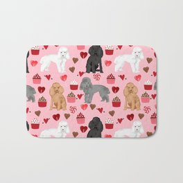 Toy Poodles mixed coat valentines day cupcakes love hearts dog breed gifts pet portraits must haves Bath Mat