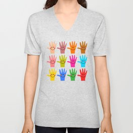 Happy Hands Unisex V-Neck