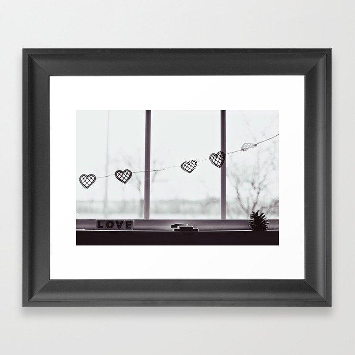 window love Framed Art Print