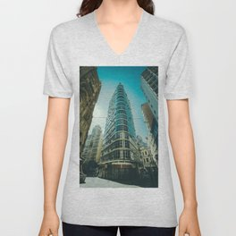 CITY - BUILDING - SQUARE - PHOTOGRAPHY Unisex V-Neck