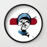 mod Wall Clocks featuring MOD by Matt Irving