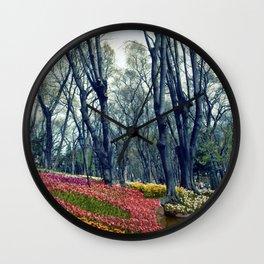tulip park in Istanbul Wall Clock