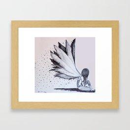 Burnt Wings Framed Art Print