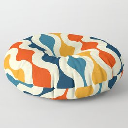 Vintage Optical Wallpaper Floor Pillow