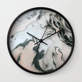 Abstract marble effect painting Wall Clock