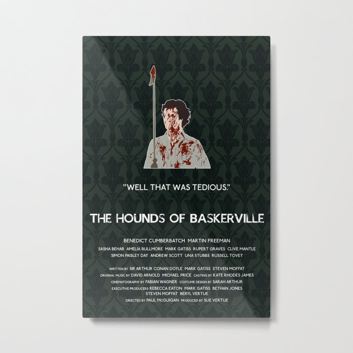 The Hounds of Baskerville - Sherlock Holmes Metal Print