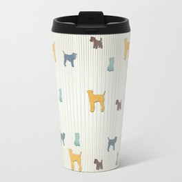 Going To The Dogs Plaid Terriers Travel Mug