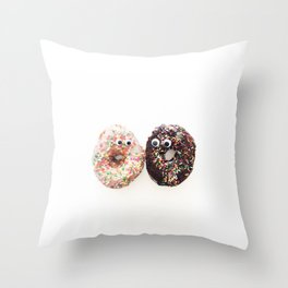 Donut Conversation Food Photography Throw Pillow