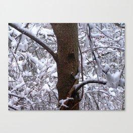Snowy Tree Canvas Print