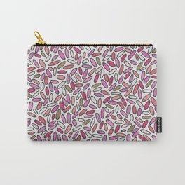 Pink, magenta, rose and gold illustrated Confetti Carry-All Pouch