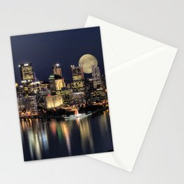 Moon Rise Over Pittsburgh Stationery Cards