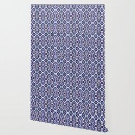 Portuguese Tiles Azulejos Blue White Pattern Wallpaper