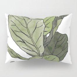 Ficus Lyrata Potted Plant.. Pillow Sham
